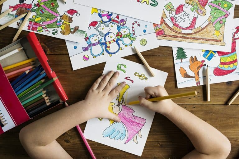 ECE teaches children play and structure with drawing pictures