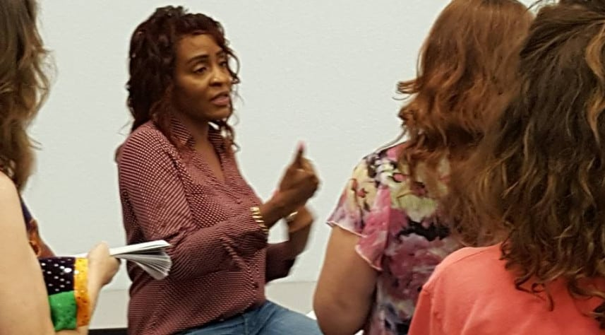 Sheryl Brown Answering Questions at a conference