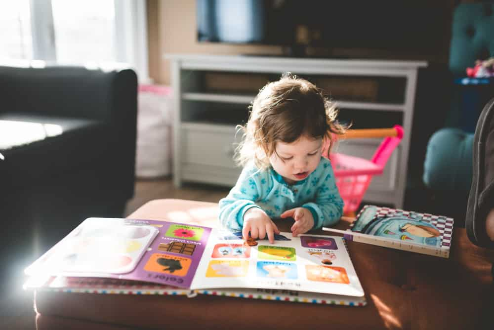 Toddler learning to read is education that is lifelong learning